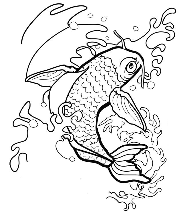 tripod fish coloring pages - photo#11